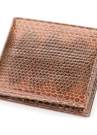 Портмоне кошелек мужской натуральная кожа змеи коричневый стил...
