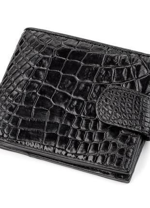 Мужской кошелек натуральная кожа крокодила стильный статусный