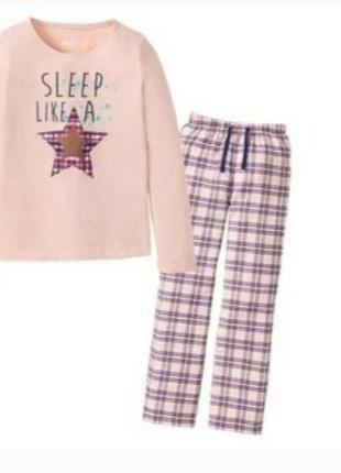 Pepperts ,пижама  с фланелевыми штанами 134-140p