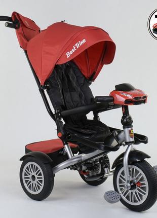 Трехколесный велосипед 3696 поворотное сиденье, складной руль