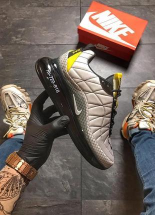 Мужские серые кроссовки nike air max 720-98 grey black.