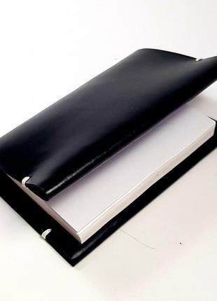 Ежедневник черный А6 кожаный 2021 год натуральная кожа кожа еж...
