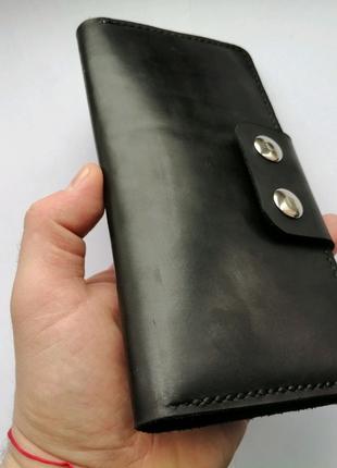 Кожаный портмоне, кошелёк, натуральная кожа.