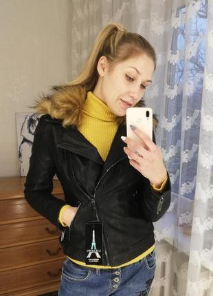 Кожаная куртка на меху, зимняя кожаная куртка