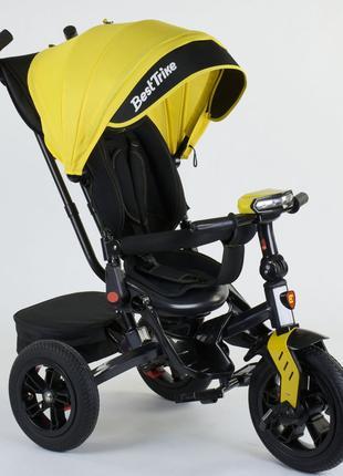 Трехколесный велосипед 8225 поворотное сиденье, складной руль
