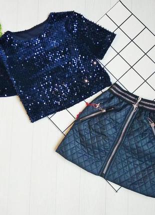 Нарядный костюм для девочки, топ и юбка