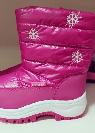 Зимние сапоги на девочку новые 27 размер