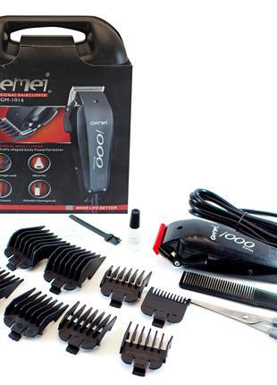 Машинка для стрижки волос Gemei GM-1016 8 насадок