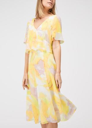 Воздушное платье миди нежно-желтого цвета jacques vert 💛 желто...