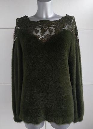 Стильный свитер riu paris с вставками из кружева