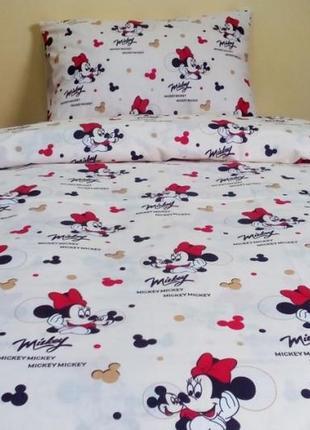 Набор постельное белья с минни маус