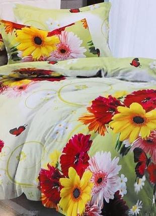 Качественное постельное белье цветы
