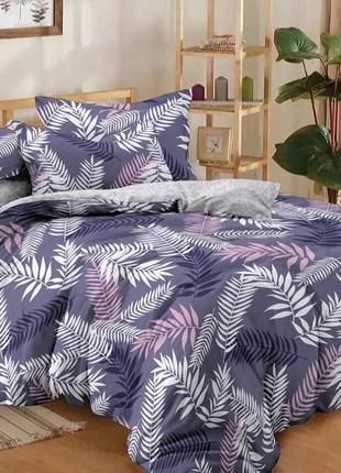 Комплект постельного белья из сатина  листья