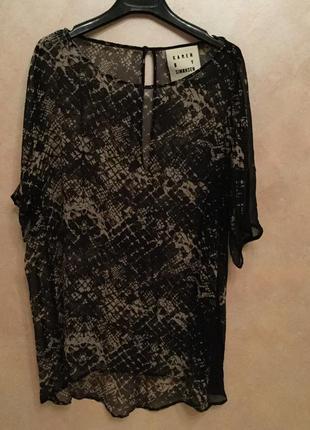 Стильная блуза майка футболка karen by simonsen