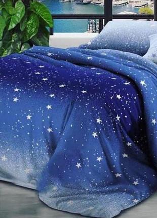 Постельное белье звездная ночь. ранфорс двуспальный