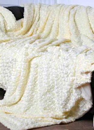 Мягкий плед барашек. покрывало на кровать