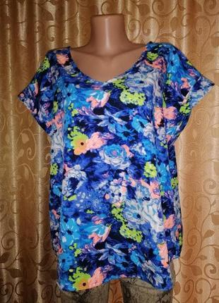 🌺🎀🌺красивая женская футболка, блузка батального размера atmosp...