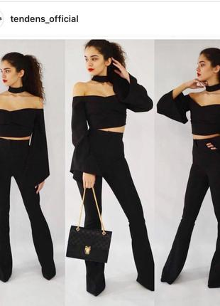Качественные чёрные крутые брюки штаны в стиле виктории сикрет