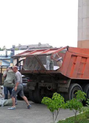Вывоз строительного мусора,веток,брёвен,боя кирпича и бетона