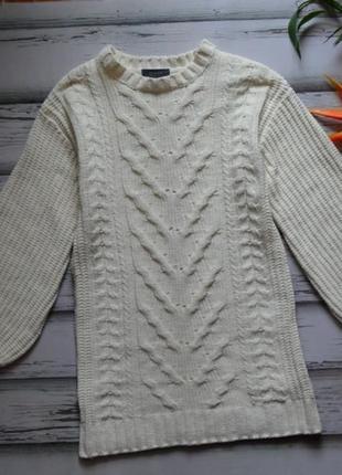 Длинный свитер велюровый шенилл с объемными рукавами primark p s