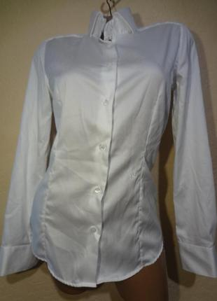 Белоснежная рубашка/блуза размер s от nara camicie