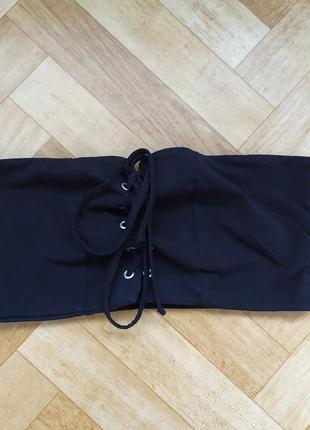 Стильный брендовый топ new look, шнуровка