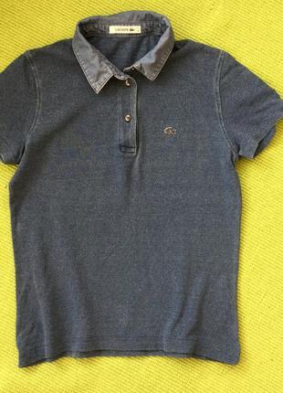 Очень классная футболка поло  оригинал lacoste размер с м