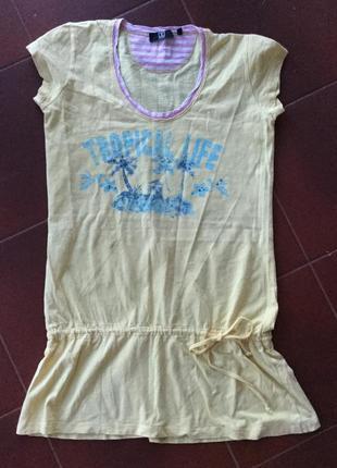 Классное платье на лето пляж море jette размер m