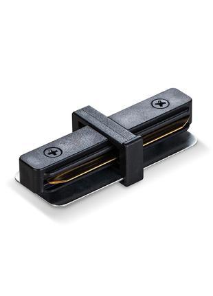 Соединитель для шинопроводов прямой черный VIDEX