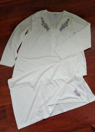 42-46р. длинная ночная рубашка, трикотаж, хлопок  units