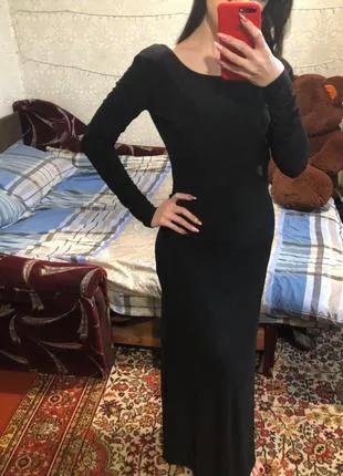 Вечернее платье белое/ черное