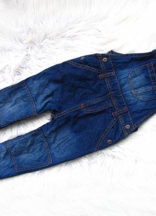 Крутой  джинсовый полукомбинезон lupilu