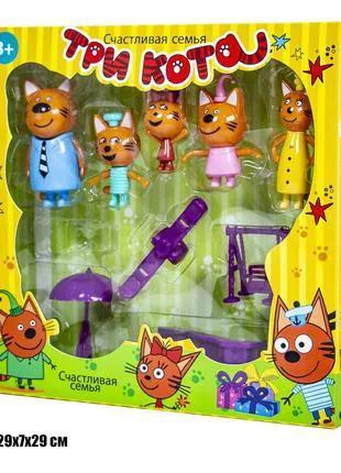 Игровой набор с фигурками Три Кота - детская площадка.
