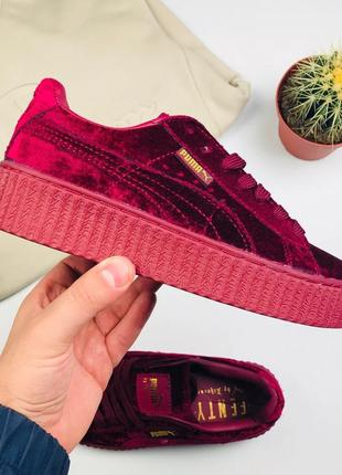 Кроссовки Puma x Rihanna Fenty Creeper Velvet Royal Purple