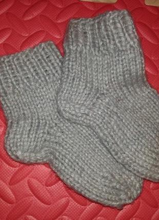 Вязаные носки, стопа 10-11 см ориентировочно