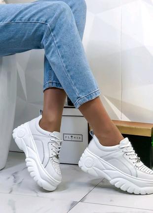 Женские кожаные кроссовки, белые кроссовки, модные кроссовки
