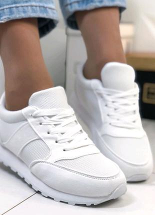 Белые кроссовки, женские кроссовки недорого, обувь на весну