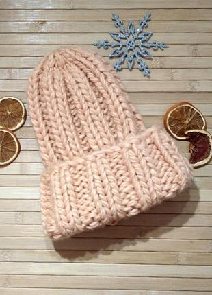 -60% зима 2020! женская шапка бини шерсть мериноса