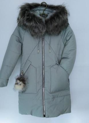 Очень красивая куртка-пальто для девочки (евро-зима)