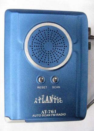 Кассетный плеер Atlantic AT-761цифровой FM приемник,автореверс,
