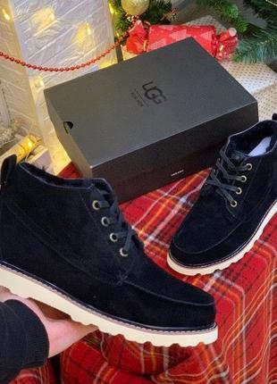Мужские зимние ботинки ugg с натуральным мехом /осень/зима/весна😍