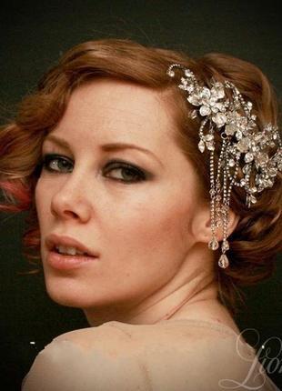 """Гребешок """"джорджия"""". украшение для волос. гребень свадебный"""