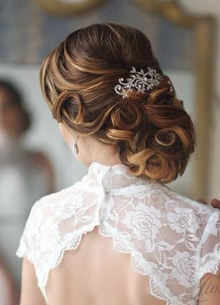 Гребешок мариса. украшение для волос. гребень свадебный