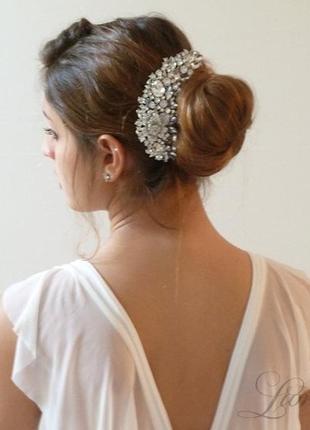 Гребешок норин . украшение для волос. гребень свадебный