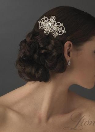 Гребешок глория . украшение для волос. гребень свадебный