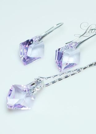 """Набор бижутерии с кристаллами swarovski """"сиреневая мечта"""""""