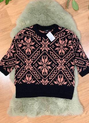 Теплый свитер h&m, новый!