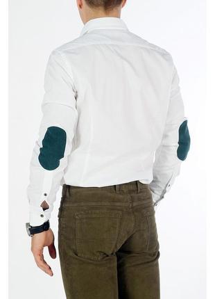 Мужская белая рубашка обычного кроя massimo dutti