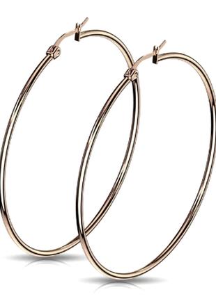 Серьги кольца под серебро spikes диаметр 4 см