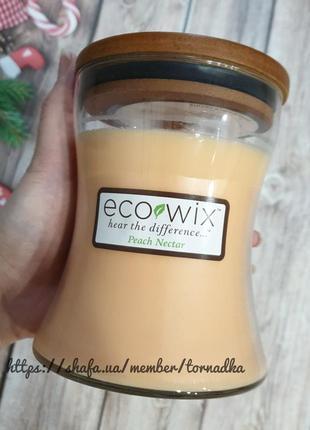Ароматическая свеча eco wix peach nectar